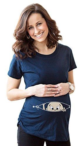 womens caucasian peeking baby maternity t shirt